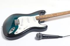 一把电主角吉他的细节 免版税库存照片