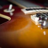 一把电吉他的特写镜头 图库摄影