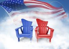 与旗子的椅子 库存图片