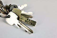 一把钥匙的概念图象与拷贝空间的 免版税库存照片