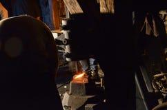 一把高热金属标尺 免版税库存照片