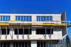 一排工厂厂房的建筑 免版税库存照片