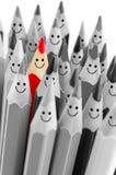一支明亮的颜色微笑的铅笔 图库摄影