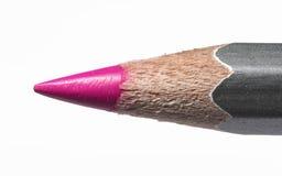 一支桃红色铅笔的图象 库存图片