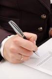 一放置s签名 免版税库存照片