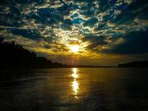 一新的天的黎明 库存图片