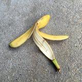一新鲜的香蕉果皮 免版税库存照片