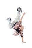 一方面Breakdancer突出并且尖叫 库存照片