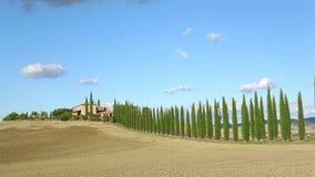 一晴朗的9月天在托斯卡纳 意大利timelapse 影视素材