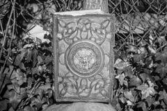 一本可怕咒语书为万圣夜 免版税库存图片