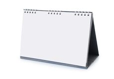 一本空的桌面日历 免版税库存照片