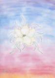 一朵惊人的光亮的轻的花(2015) 库存例证