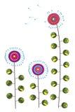 一朵甜和五颜六色的蒲公英花的图画 库存照片