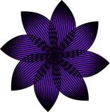 一朵紫外传染媒介花 免版税库存照片