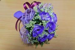一朵美丽的紫罗兰色花 免版税库存图片
