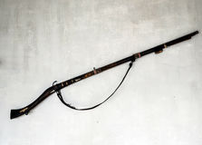 一杆古色古香的枪 库存照片