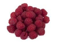 一束在白色背景的莓 库存图片