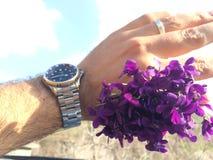 一束花在手中 免版税图库摄影