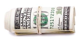 100张US$票据卷  免版税库存图片