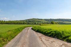 一条乡下公路在苏克塞斯 免版税库存图片