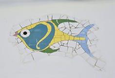 一条五颜六色的鱼的马赛克 库存照片