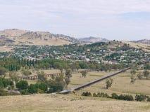 一条历史的铁路和高速公路 免版税库存图片