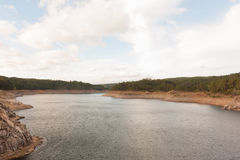 一条大河的风景 库存图片