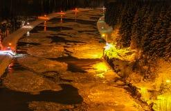 一条大运河在冬天 免版税库存图片