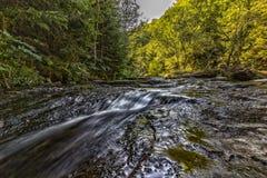 一条小河的夏天视图山的 免版税库存图片