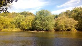 一条小河的照片在特拉华 图库摄影