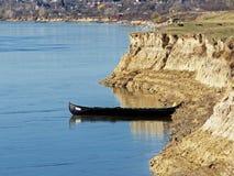 在多瑙河的小船 图库摄影