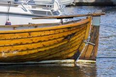 一条小船的细节在挪威 库存照片