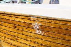 一条小船的细节在挪威 免版税库存照片