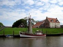 一条小船 北海 免版税库存照片