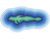 一条层状鱼的例证在海洋 库存照片