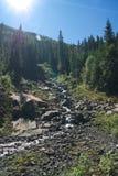 一条岩石小河 库存照片
