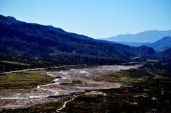 一条干燥河 库存照片