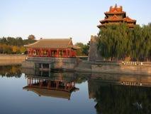 一条护城河在北京 免版税库存图片