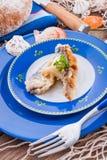 发怒地被镶嵌的油煎的鲱鱼 库存图片