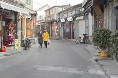 一条旅行的街道的概述 库存图片