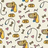 一条无缝的背景爱犬的例证 免版税图库摄影