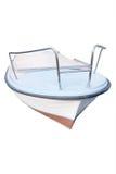 一条有桨的小船的图象 免版税库存照片