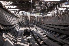 一条木小船的建筑 库存图片