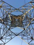 一条架空线塔 库存图片