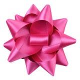 一条桃红色丝带弓 库存图片