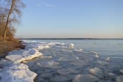 一条河在春天 库存图片