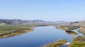 一条河在西伯利亚,布里亚特共和国 库存图片
