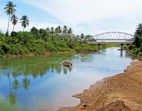 一条河在西部苏门答腊,印度尼西亚 库存照片