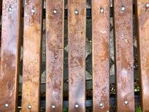 一条湿长凳 图库摄影