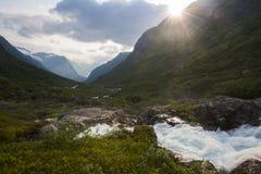 一条溪在挪威 免版税库存照片